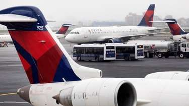 Delta Air Lines planes operate at the new