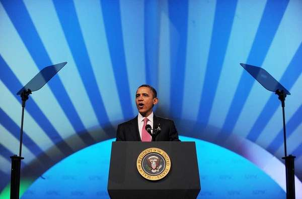 President Barack Obama speaks during the AIPAC Policy