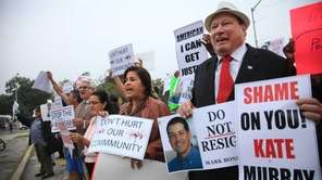 Nearly 50 people from Latino activist groups across