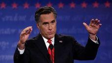 Former Massachusetts Gov. Mitt Romney speaks during the