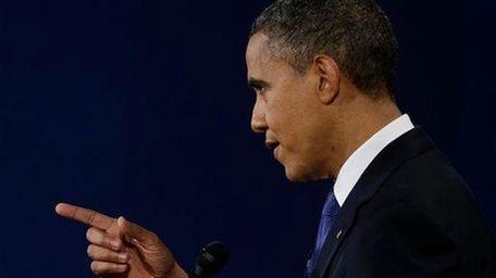 President Barack Obama speaks during the first presidential