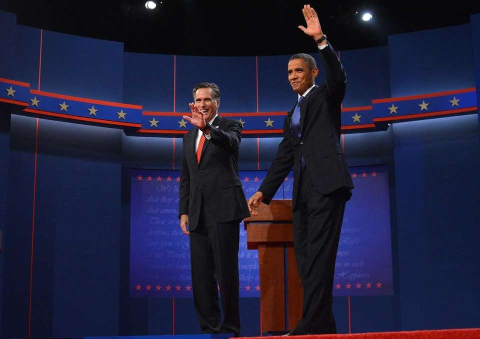 President Barack Obama and Republican challenger Mitt Romney