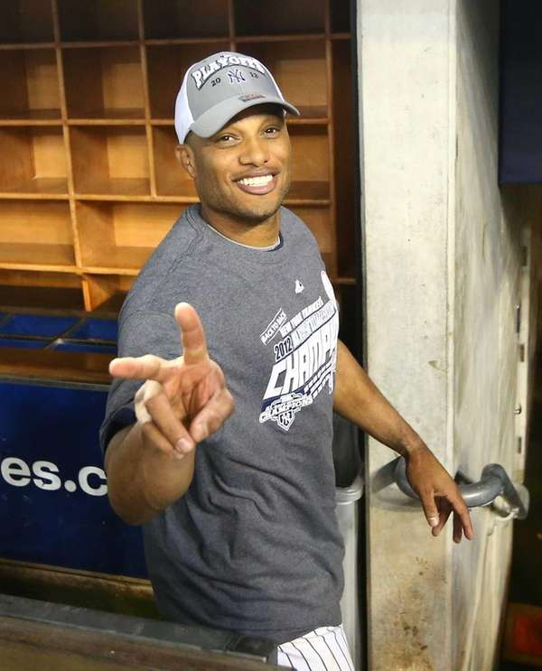 Robinson Cano celebrates after defeating the Boston Red