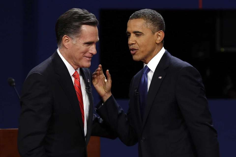 Republican presidential nominee Mitt Romney and President Barack