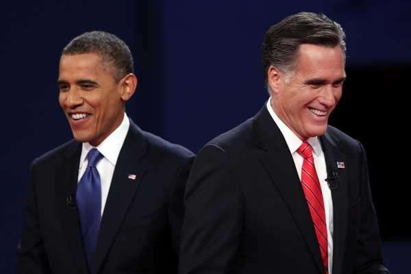 President Barack Obama and Mitt Romney. (Getty Images)