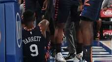 Knicks rookie RJ Barrett took a tumble in