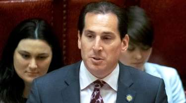 State Sen. Todd Kaminsky, D-Long Island, speaks on