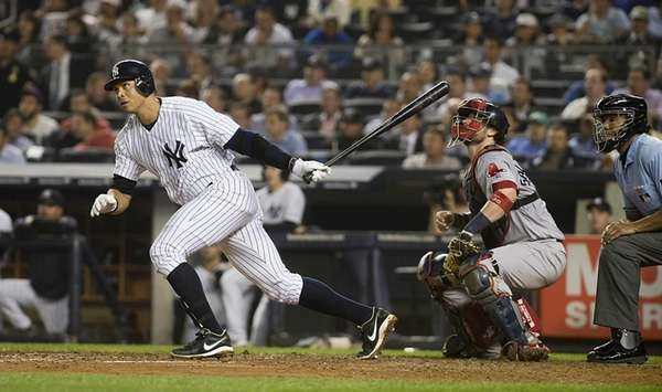 Alex Rodriguez hits a double in the bottom