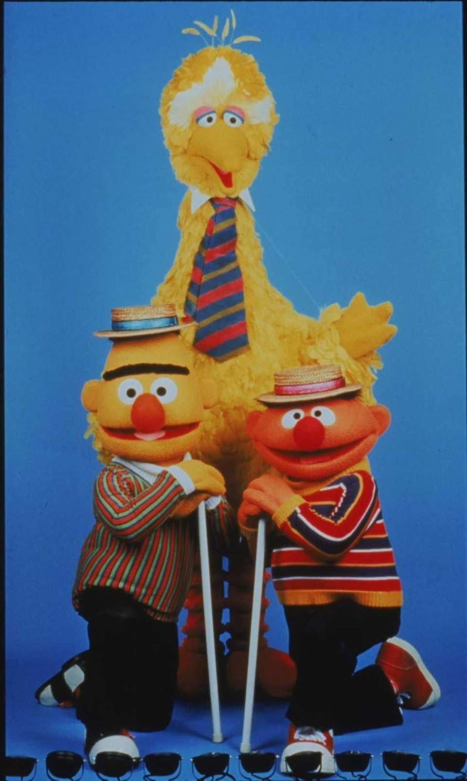 Bert and Ernie with Big Bird