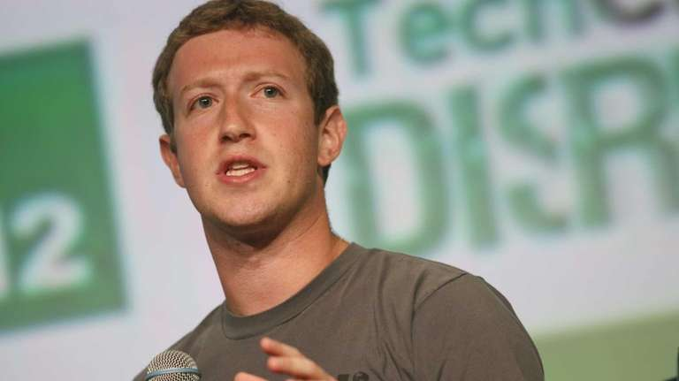 Facebook founder and chief executive Mark Zuckerberg at