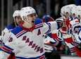 Chris Kreider #20 of the Rangers celebrates his