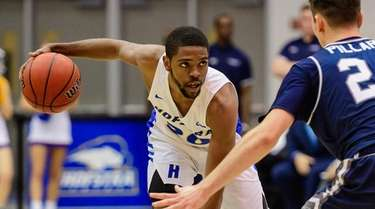 Hofstra Pride guard Jalen Ray (20) sizes up