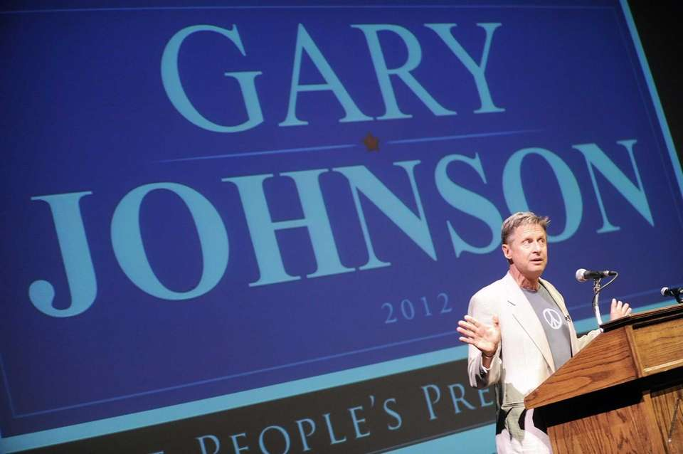 Former two-term governor of New Mexico and Libertarian