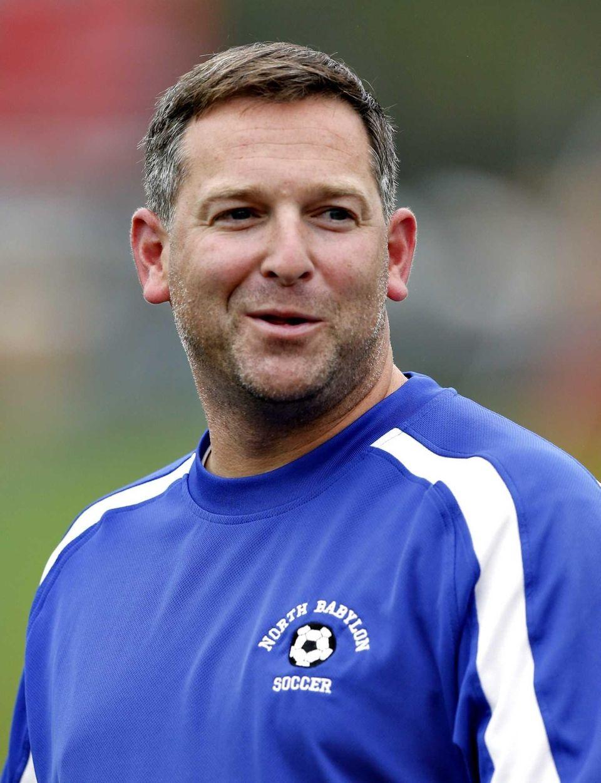 North Babylon girls varsity soccer head coach Steve