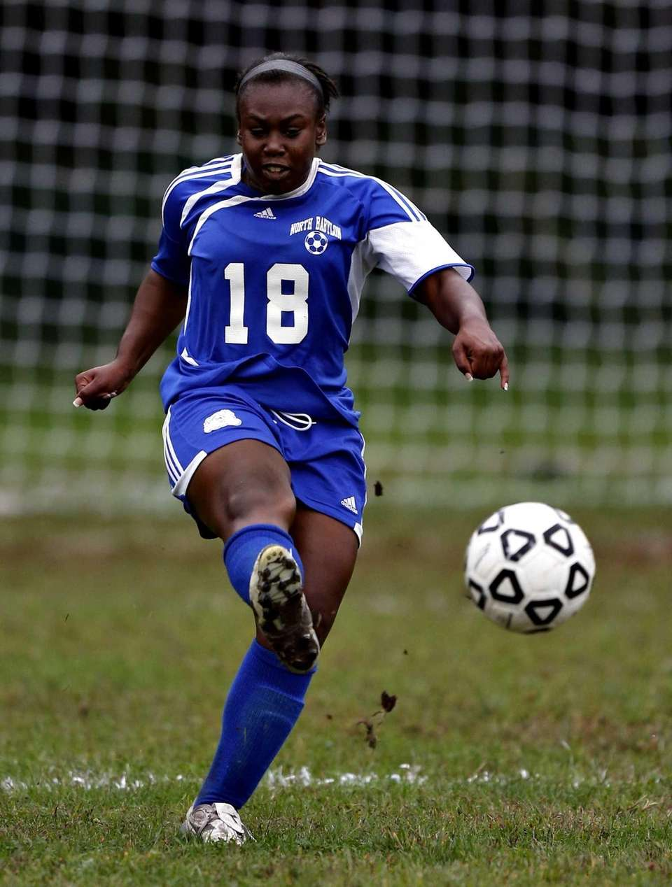 North Babylon's Lauren Lester advances the ball upfield