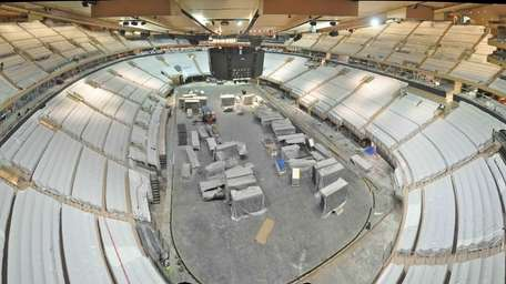 A look inside Madison Square Garden as it