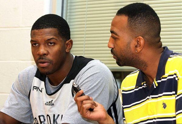 Rod Boone interviews Joe Johnson after Friday's Brooklyn
