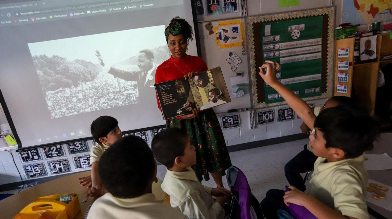 Educators at Centennial Avenue School in Roosevelt on