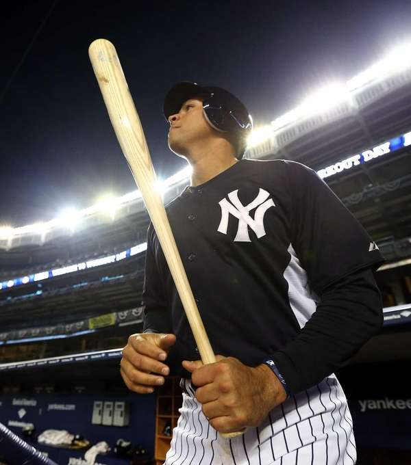 Alex Rodriguez works out at Yankee Stadium in
