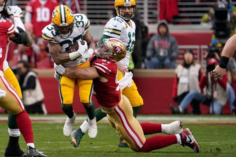 Green Bay Packers running back Aaron Jones is