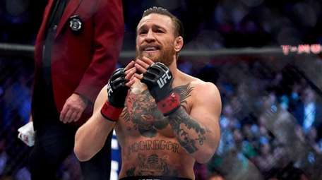 Conor McGregor during UFC 246 at the T-Mobile
