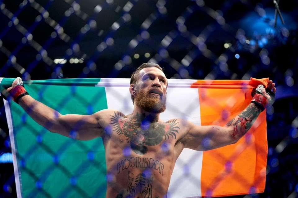Conor McGregor during UFC 246 at the