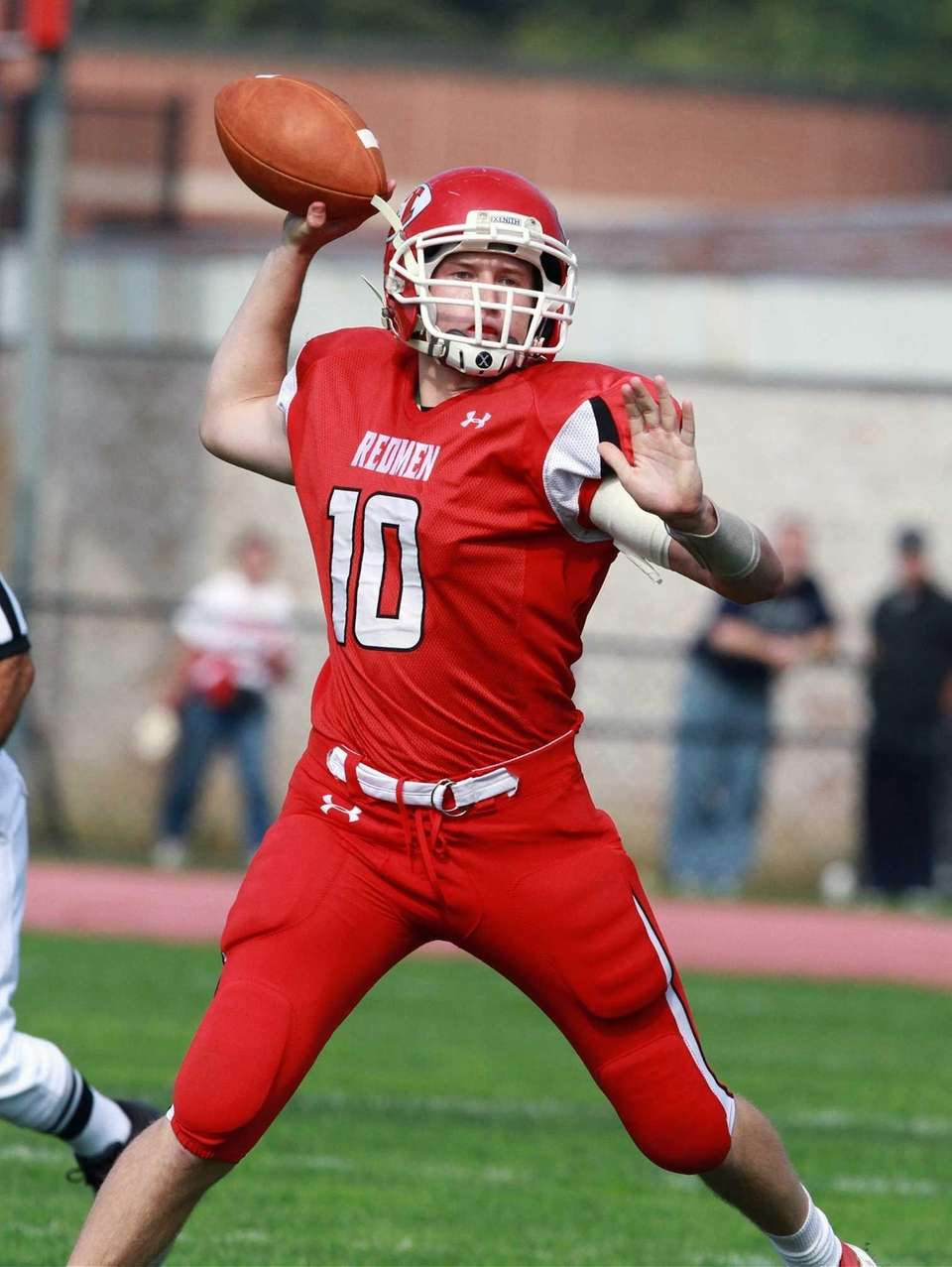 East Islip's Casey Nolan throws down field during