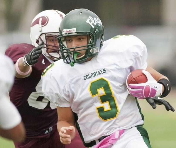 William Floyd's starting quarterback A.J. Otranto (3), is