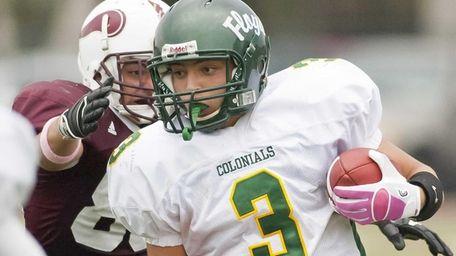 William Floyd's starting quarterback A.J. Otranto (3), is