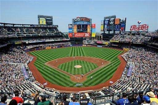 A view of Citi Field during a game