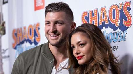 Tim Tebow and Demi-Leigh Nel-Peters attend Shaq's Fun