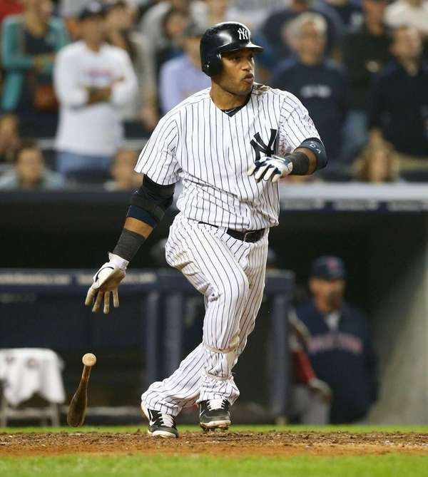 Robinson Cano follows though on his sixth inning