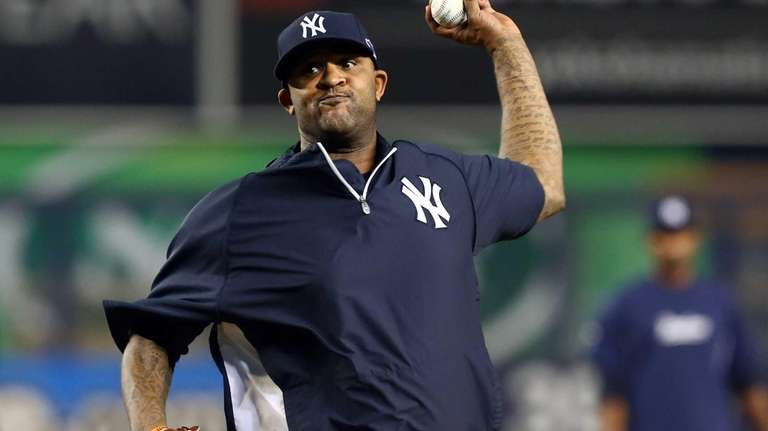 CC Sabathia works out at Yankee Stadium. (Oct.