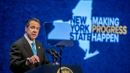 Gov. Andrew Cuomo during his State of the