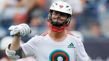 Mike Chanenchuk of Whipsnakes LC reacts after scoring