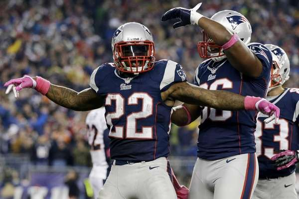 New England Patriots running back Stevan Ridley (22)