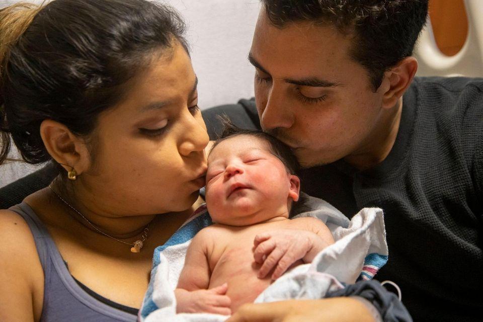 Giselle Delahaz, mom, and Jose Francisco Adrian, dad,