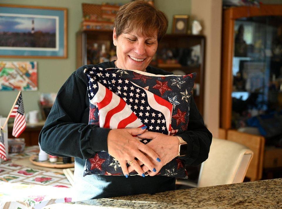 Lisa Ryan, at her Hicksville home, Oct. 19,