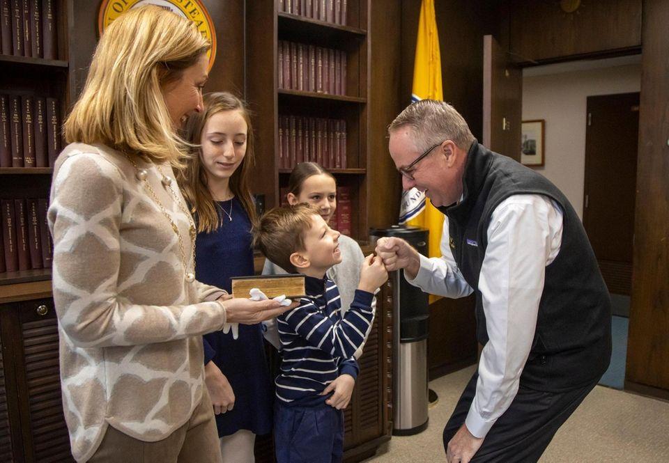 Town of Hempstead Supervisor Donald Clavin is sworn