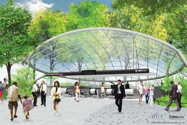 An undated rendering of the planned extension of