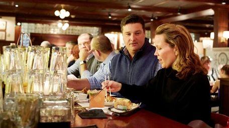 Meghan and Michael Eschmann enjoy dinner at The