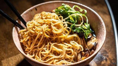 Pork Ramen at Japanese inspired restaurant Bakuto, in