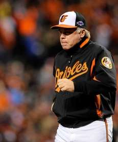 Orioles manager Buck Showalter during ALDS Game 1
