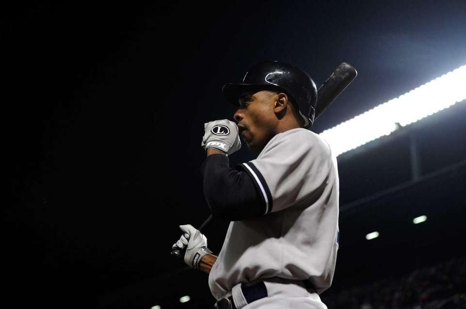 Curtis Granderson of the New York Yankees looks