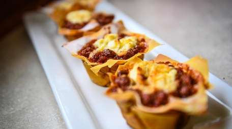 Lasagna cupcakes at Mista's Takeout in Roosevelt.