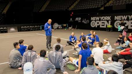 The New York Tennis Expo features skills clinics
