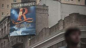 "A sign for the now defuncted musical ""Rebecca"""