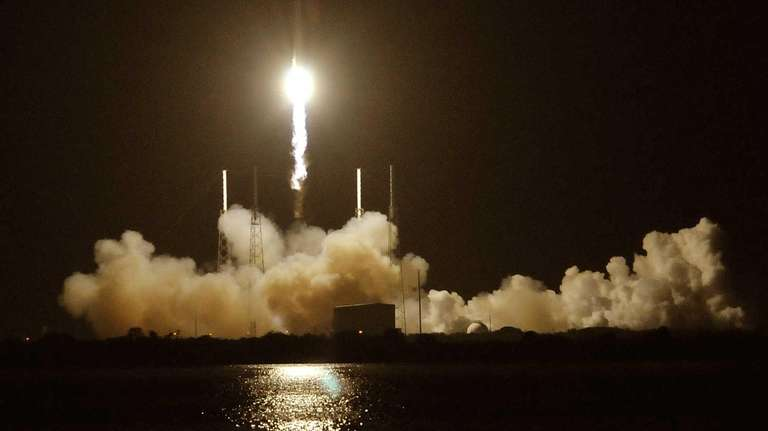 SpaceX's Falcon 9 rocket blasts off from Cape