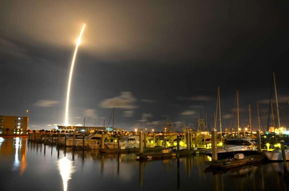 A 71-second exposure as seen from Port Canaveral,