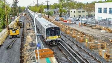 LIRR Third Track project construction at the LIRR